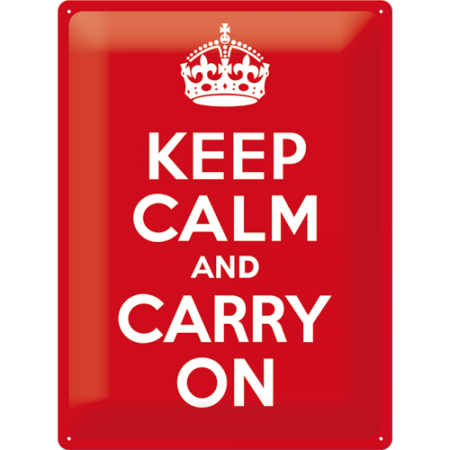 Plechová cedule Keep calm and Carry on