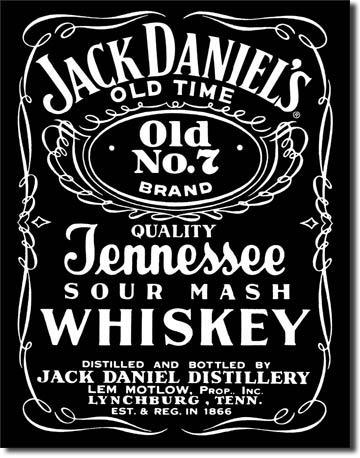 Plechová cedule Jack Daniels black