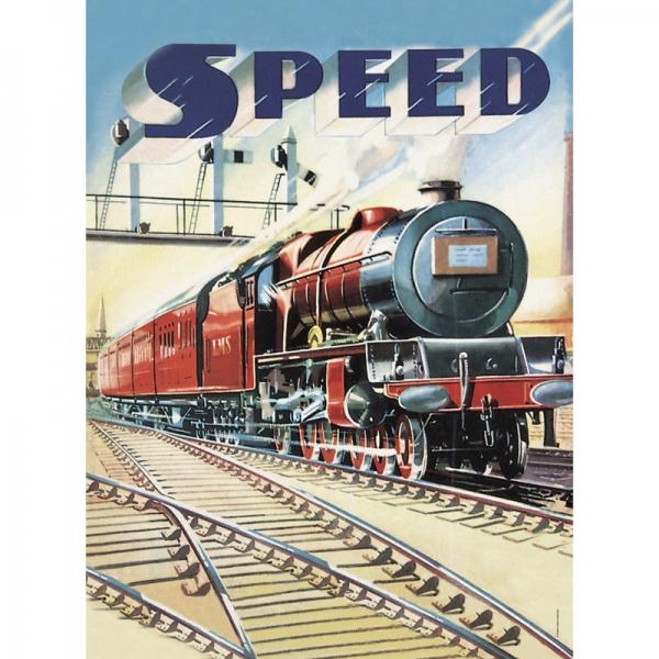 Plechová cedule vlak Speed train