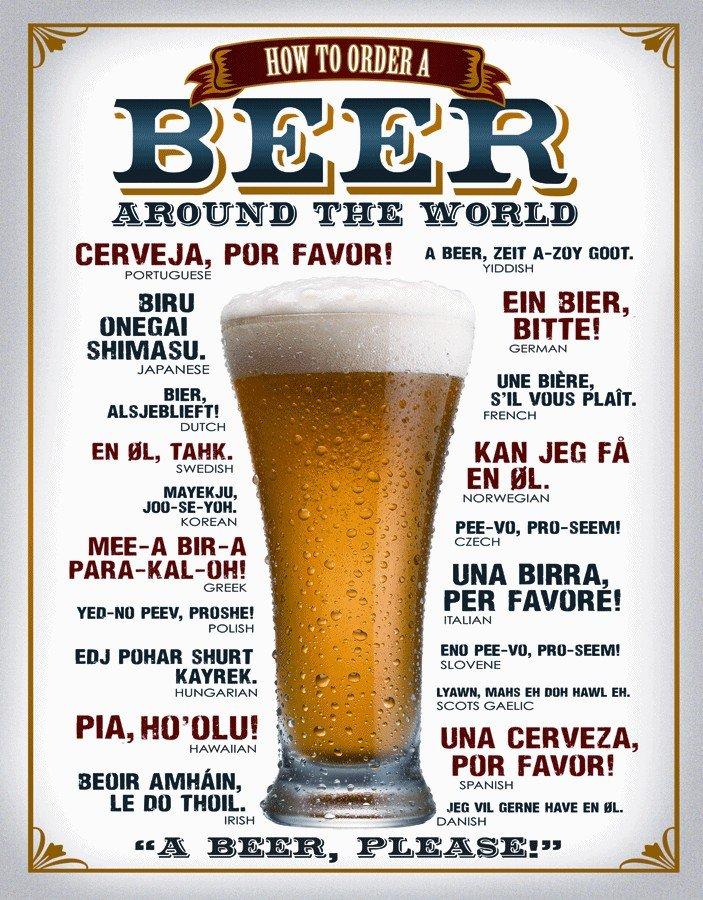 Plechová cedule pivo - Beer around the world PC300P/N002