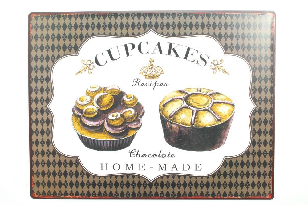Plechová cedule - Cupcakes