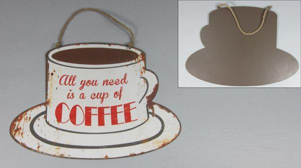 Plechová cedule Klobouk coffee