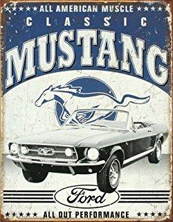 Plechová cedule Mustang Classic