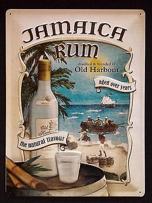 Plechová retro cedule Rum - Jamaica rum