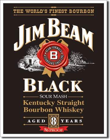 Plechová cedule Jim Beam black