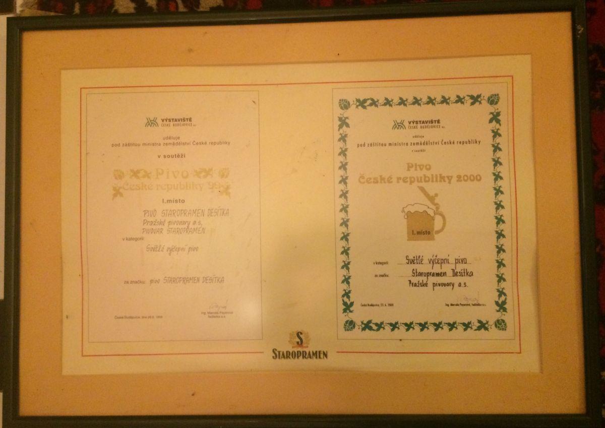 Originální diplomy - obraz pivo Staropramen
