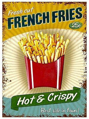 Plechová cedule French Fries hranolky