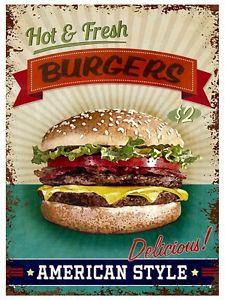 Plechová cedule Burgers American Style