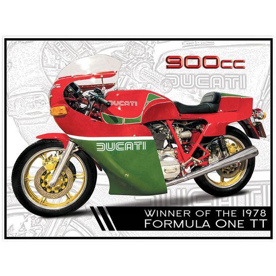 Plechová cedule motorka DUCATI 900cc