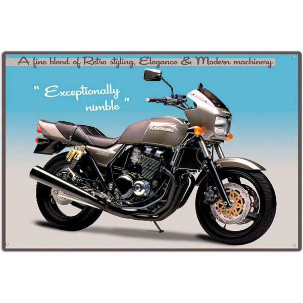 Plechová cedule motorka Kavasaki ZRX