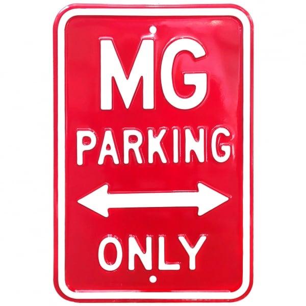 Plechová cedule MG Parking Only