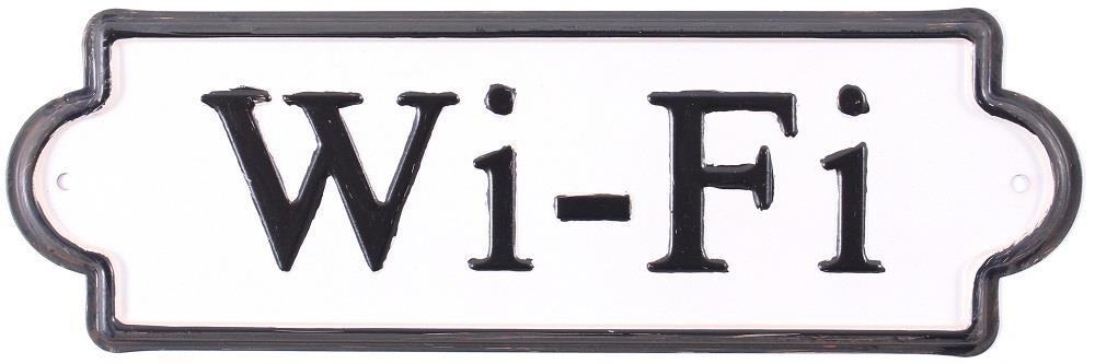 Plechová cedulka na dveře Wifi