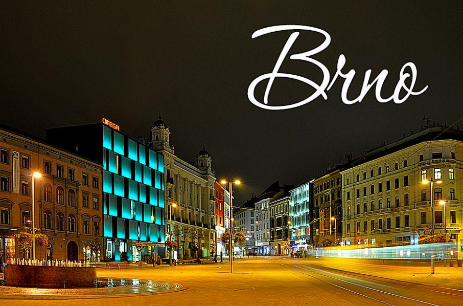 Magnet na Ledničku Brno - Náměstí Svobody Noc