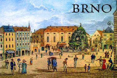 Magnet na Ledničku Brno - Zelný trh retro