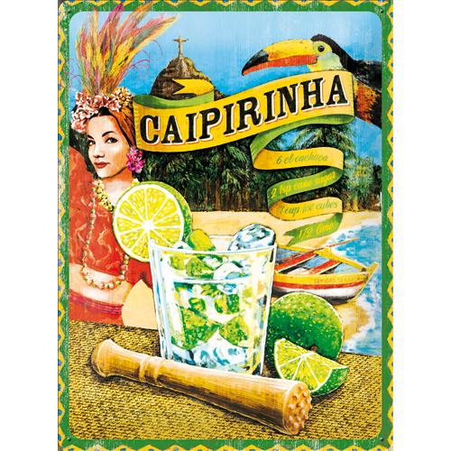Plechová retro cedule Caipirinha