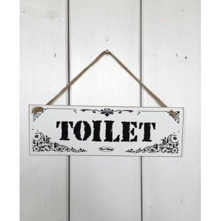 Dřevěná cedule na dveře - tabulka Toilet WC
