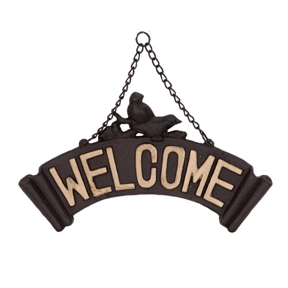 Litinová retro cedule nápis Welcome