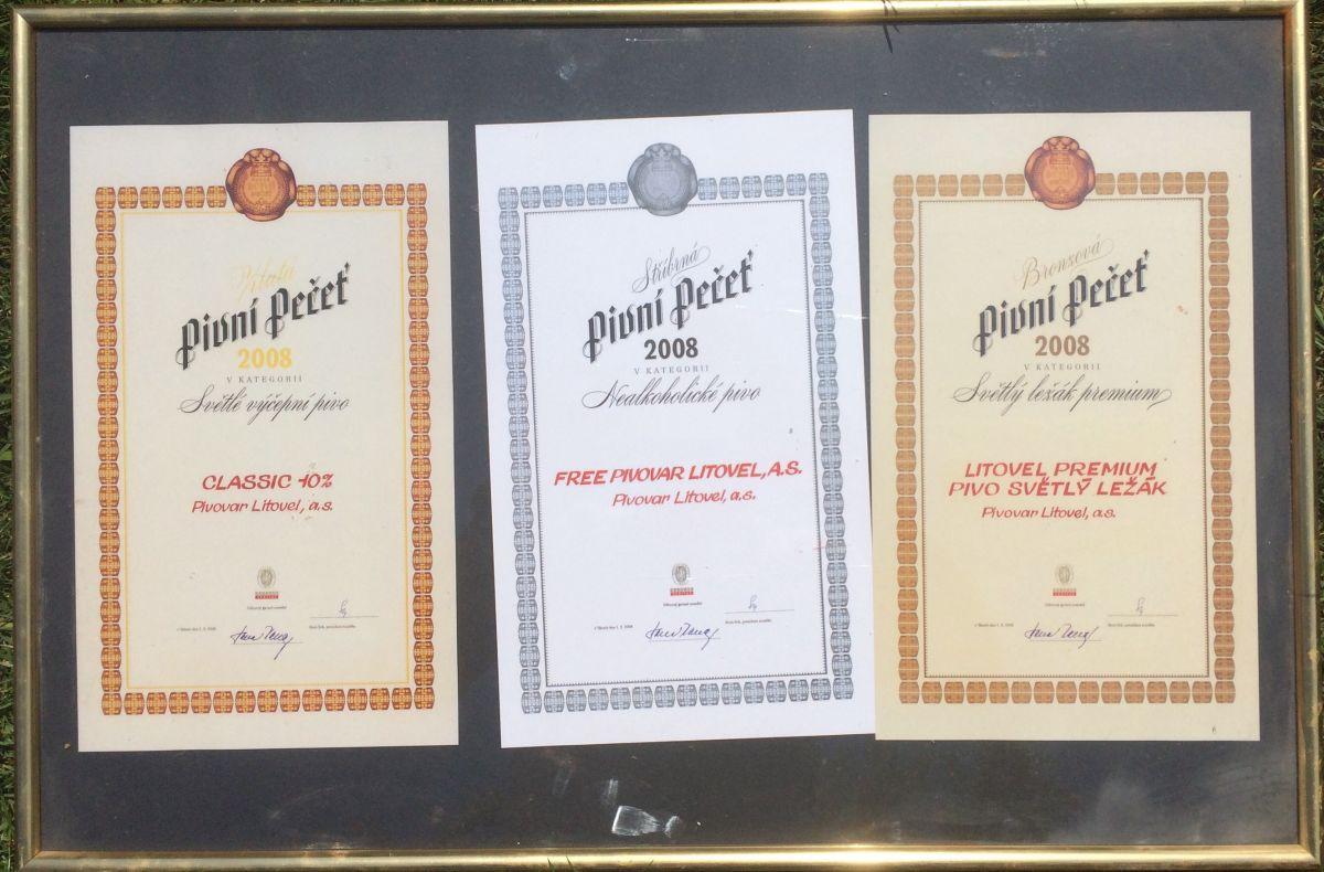 Originální diplomy - obraz Pivní pečeť pivo Litovel
