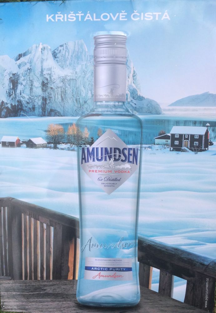 Plechová cedule Amundsen