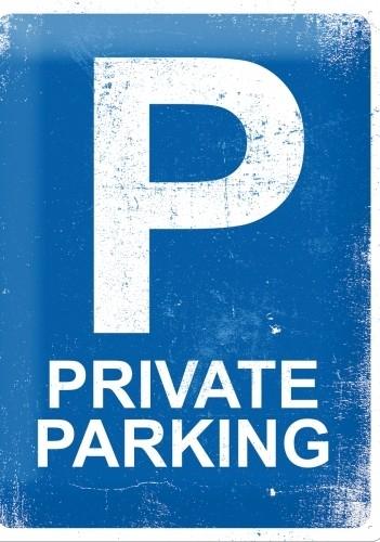 Plechová cedule Private parking