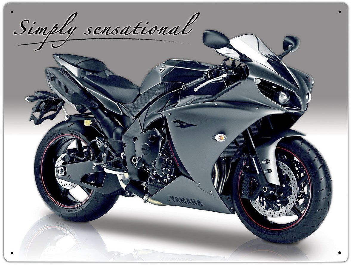 Plechová cedule motorka Yamaha YZF R1 cestovní