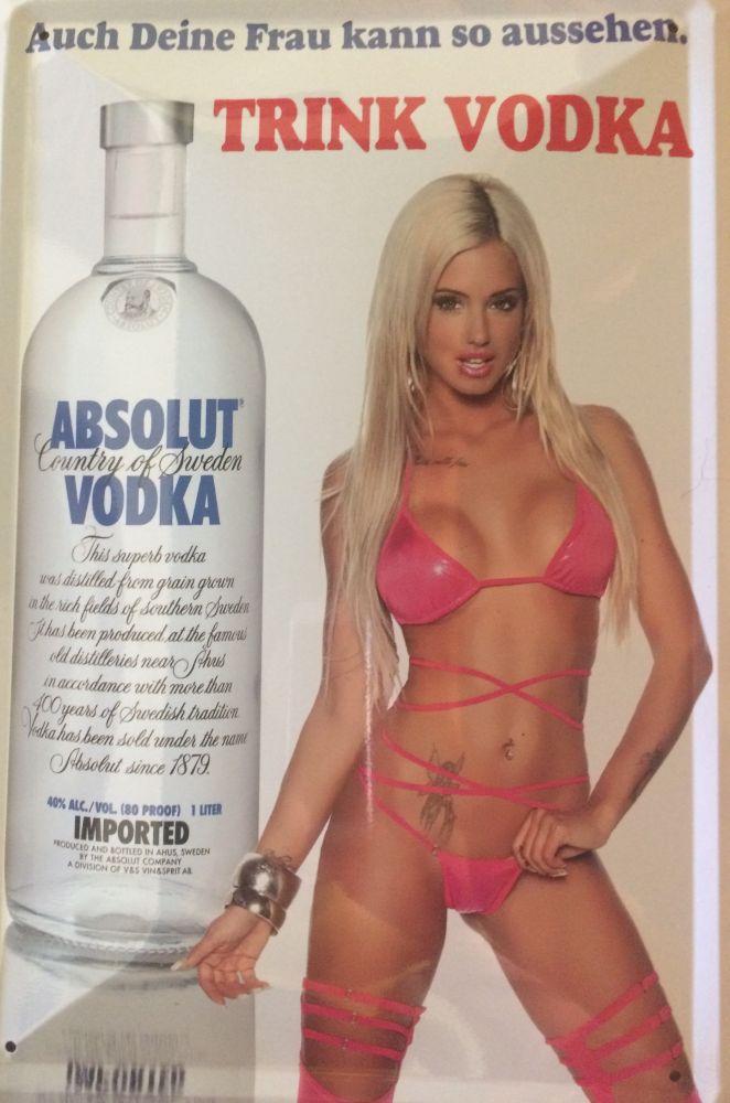 Plechová cedule Absolut vodka