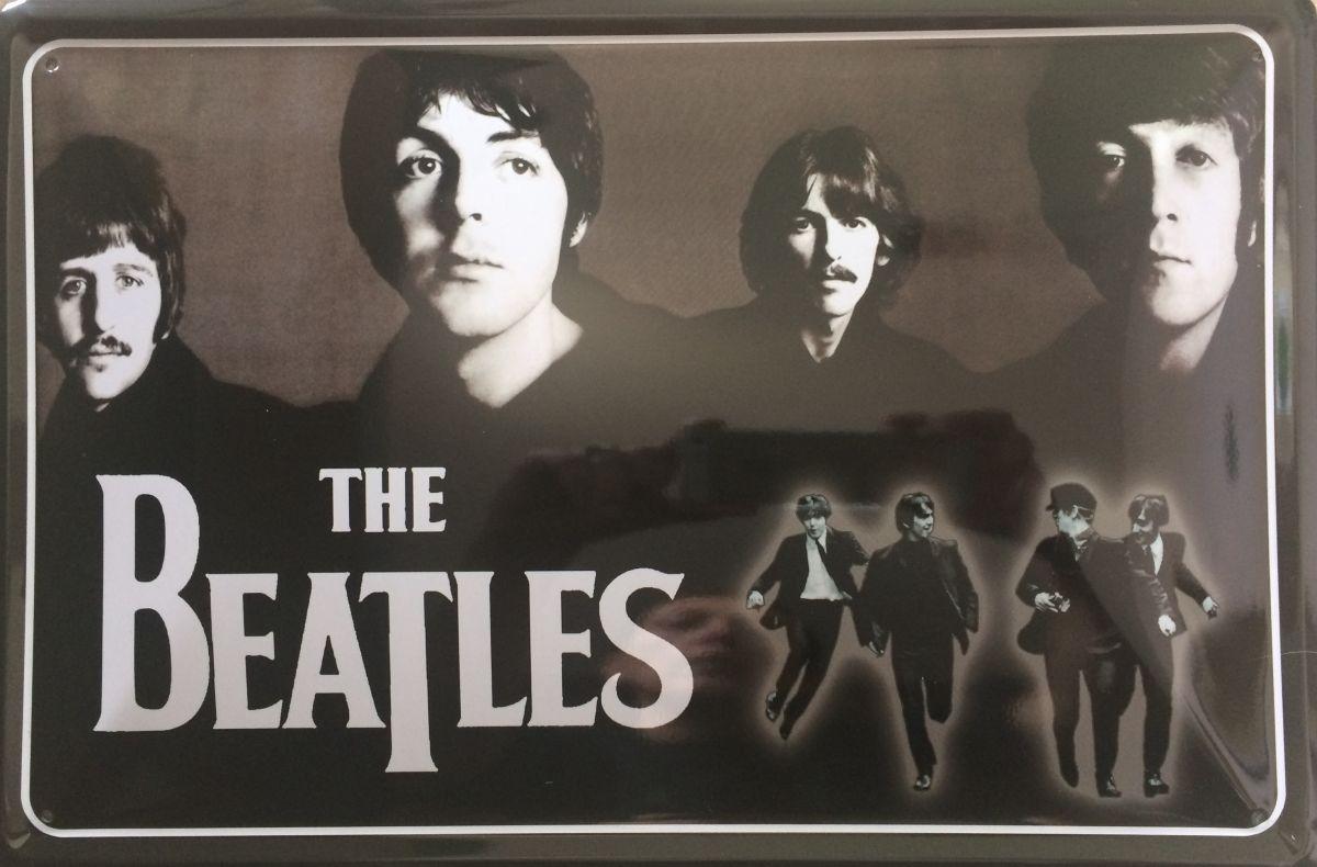 Plechová cedule The Beatles