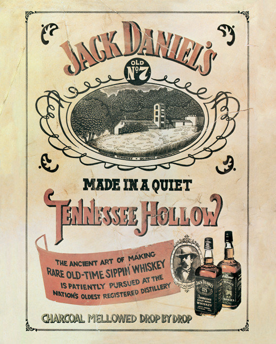 Plechová cedule Jack Daniels Made in a quiet Tennessee Hollo