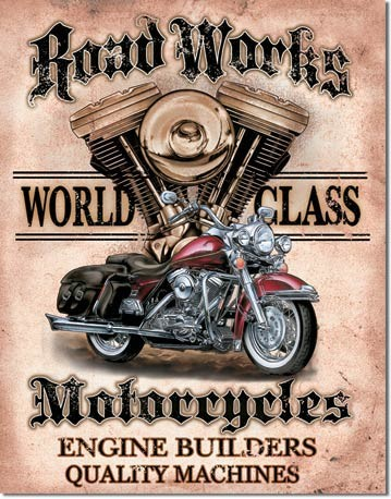 Plechová cedule motorka Motorcycles
