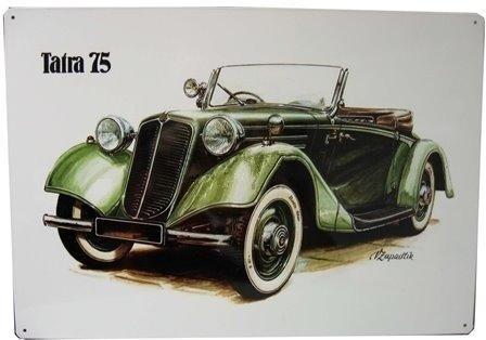 Plechová cedule Tatra 75