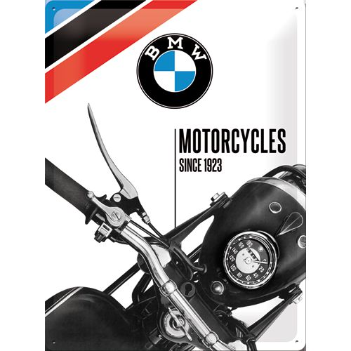 Plechová cedule motorka BMW Mororcycles 1923