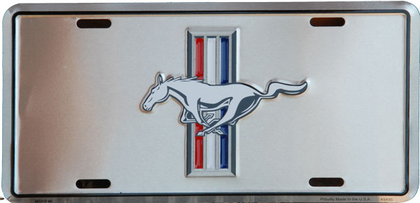 Plechová retro cedule SPZ Mustang