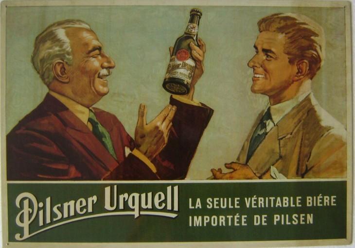 Originální plechová cedule Pilsner Urquell La seule véritable bière