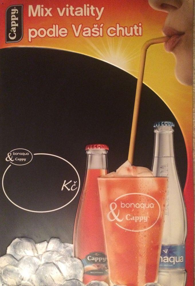 Originální plechová cedule Cappy mix vitality podle vaší chuti