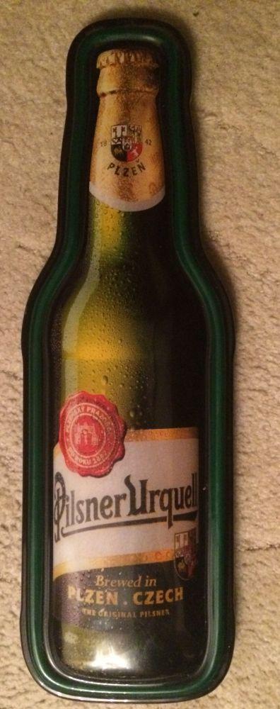Originální plastová cedule Pilsner Urquell láhev