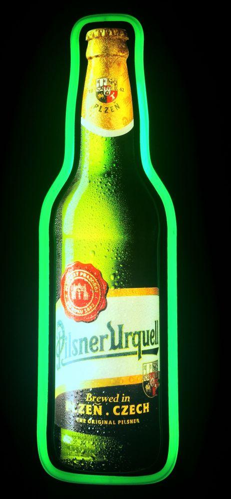Originální světelná reklama Pilsner Urquell láhev