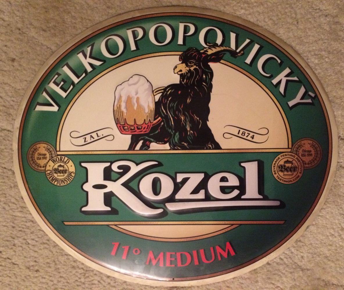 Originální plechová cedule Velkopopovický kozel Pivo Medium 11
