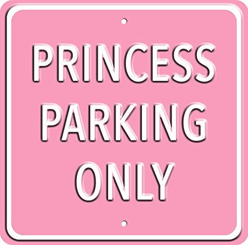 Plechová cedule Princess parking only