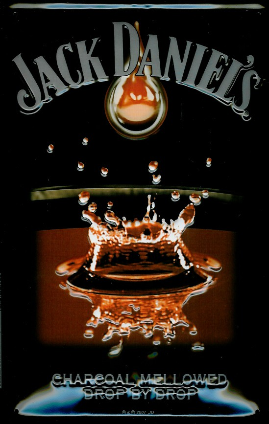 Plechová cedule Jack Daniels S kapkou