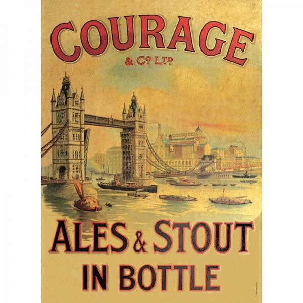 Plechová cedule pivo - Courage M