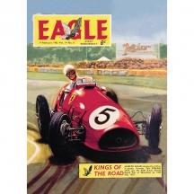Plechová cedule Eagle car - závodnička