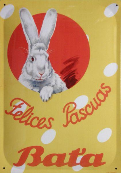 Plechová cedule Baťa - Felices Pascuas