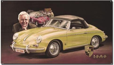 Plechová cedule Porsche