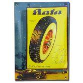 Smaltovaná cedule Baťa Barum auto