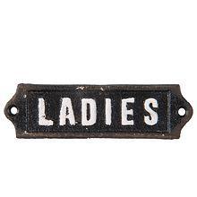 Litinová cedulka na dveře WC - Ladies