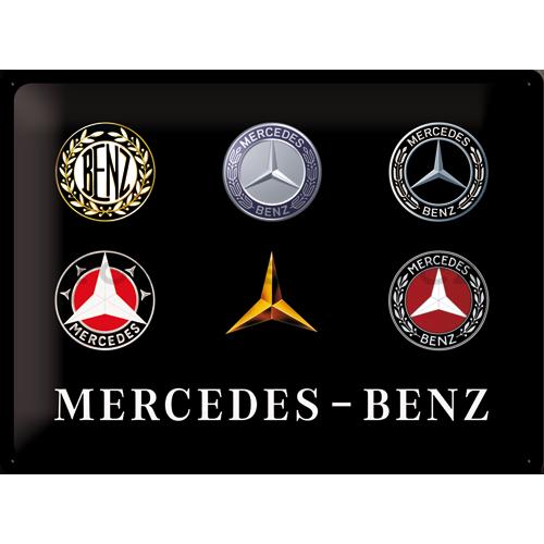 Plechová cedule Mercedes Loga