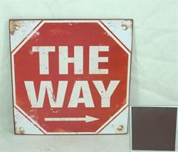 Plechová cedule The way