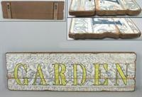 Dřevená cedule Garden