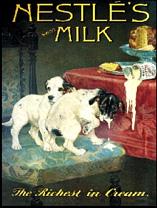 Plechová cedule Nestle´Swiss milk