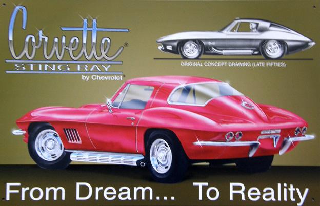 Plechová cedule Corvette